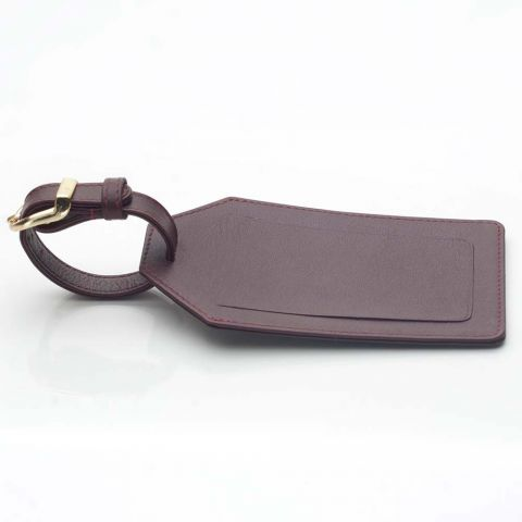 Leather luggage tag in Oxford