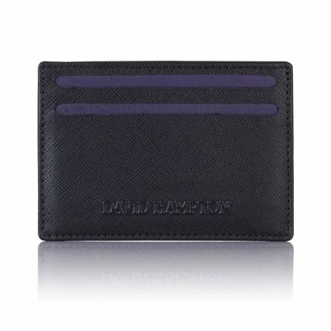 Black Saffiano leather slim card holder