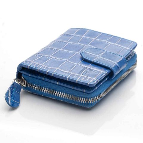 Blue Nile croco leather French purse