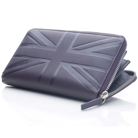 Britannia leather zip around wallet