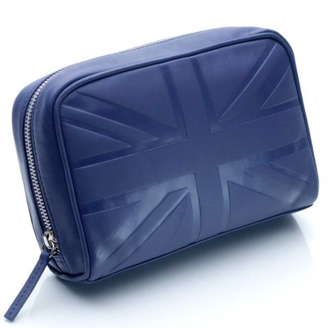 Leather cosmetic case medium Britannia