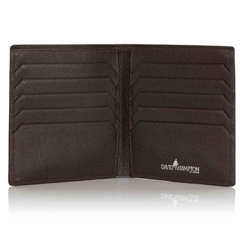 Malvern leather credit card wallet open