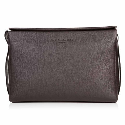 Richmond leather flat top messenger bag