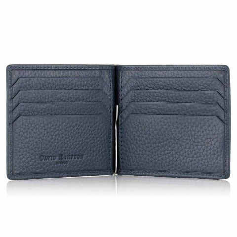 Richmond leather money clip card holder