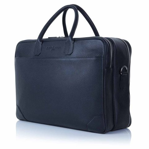 Richmond leather overnight briefcase side