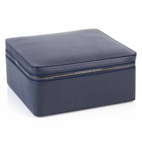 Richmond leather travel jewellery case