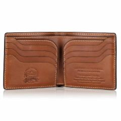 Livingstone leather billfold wallet open