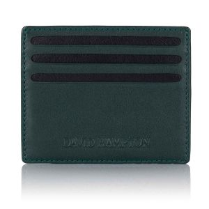 Green label luxury leather slim 6 card holder