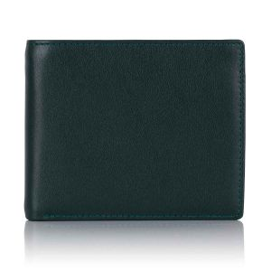 Green Label luxury leather trifold wallet