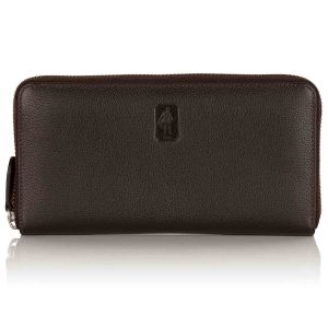 Malvern leather zip wallet