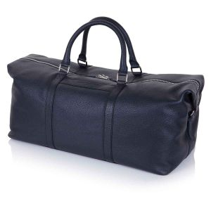 Midnight Richmond leather duffle bag side