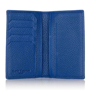 Richmond leather passport wallet open